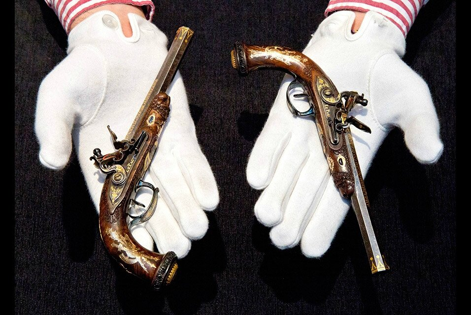 Sotheby's to present Napoleon's last gift to his son: A superb pair of child-size pistols