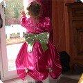 Robe princesse de dos