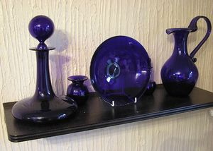 Bristol blue glass objets