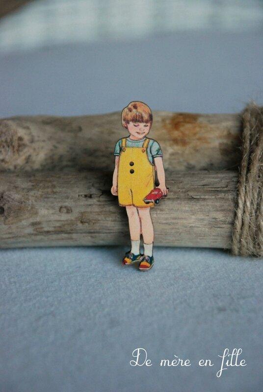 garçon culotte courte jaune
