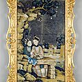 A fine and rare late 18th century Chinese export mirror picture, ca 1780