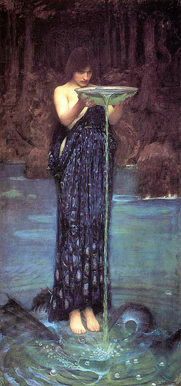 John William Waterhouse l'envieuse Circe