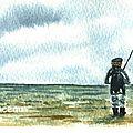 Le pêcheur (aquarelle)