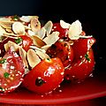 Salade de tomates cerises aux amandes grilles