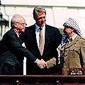 1993 - arafat et rabin font la paix