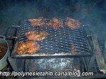 Poulets sur le barbecue