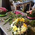Cours floral à l 'atelier : méli mélo de renoncules.