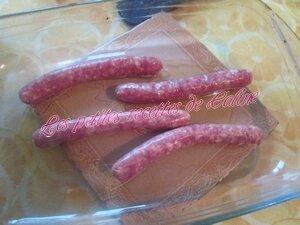 Chipolatas et pommes de terre au four03