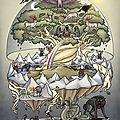 Une des représentations d'Yggdrasil (mythologie nordique).