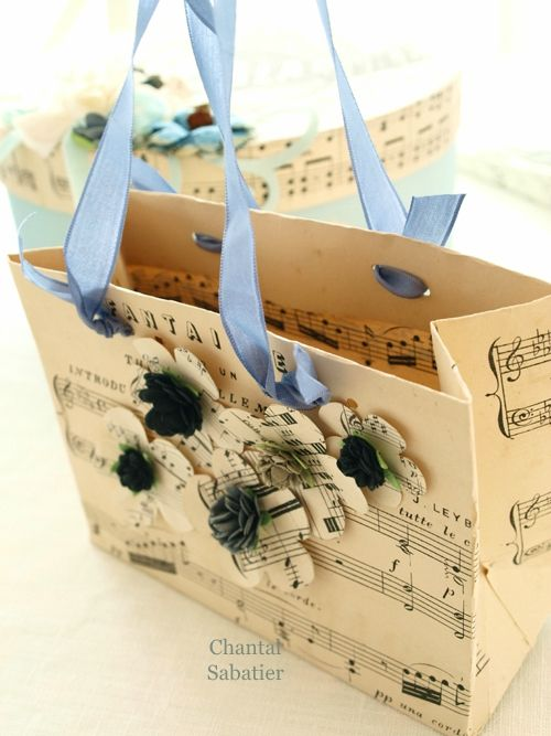 sachet papier a musique creation chantal sabatier