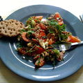 Grande salade ! roquette, tomate, avocat, bacon,