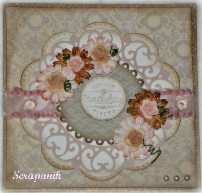 carte anniversaire scrap