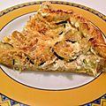 Tarte fine a la courgette et thon sans œufs