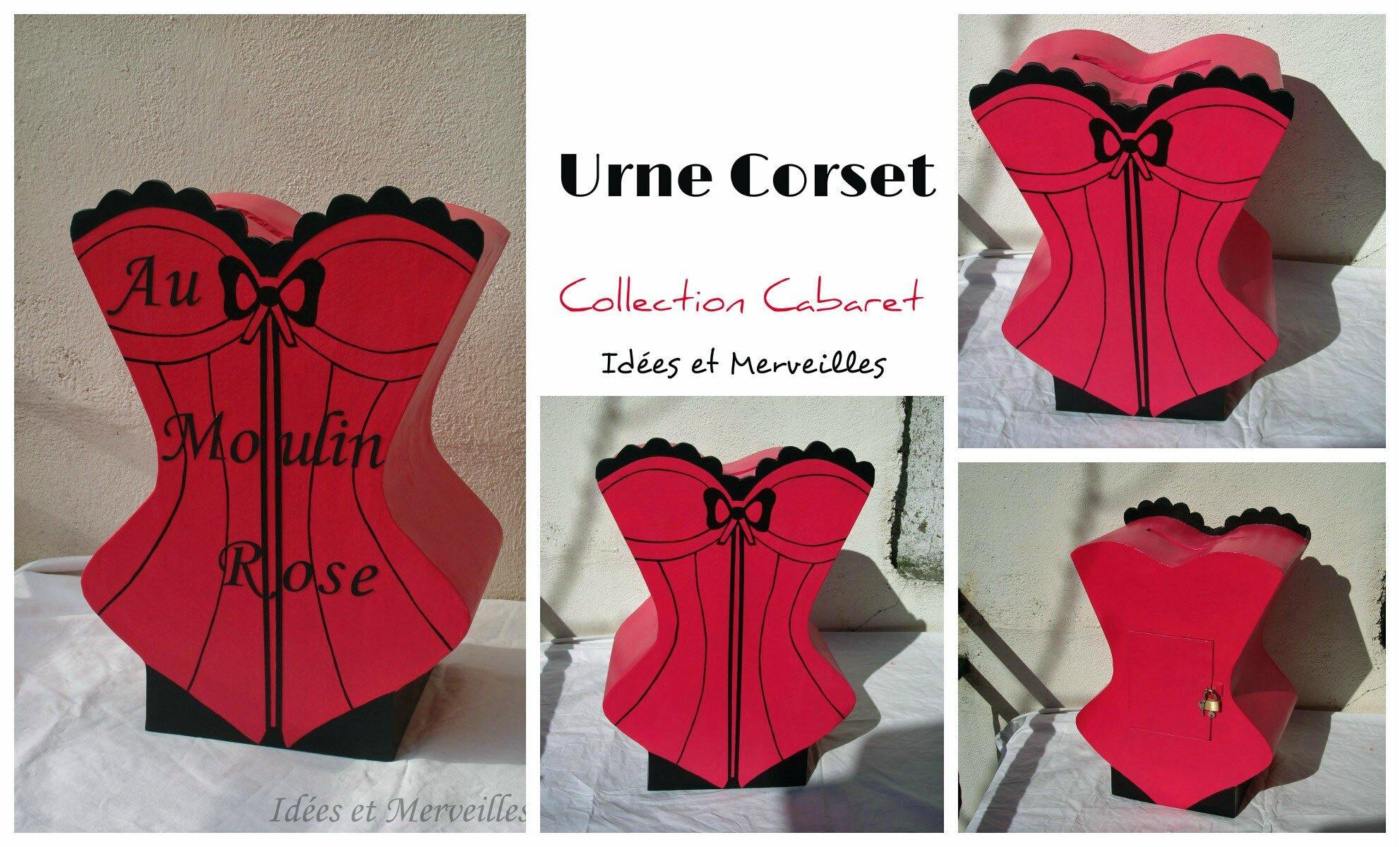 urne corset theme cabaret - idees et merveilles 6