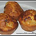 Muffins banane / pépites de chocolat