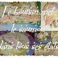 Crumble de saumon au boursin et sa fondue de poireaux
