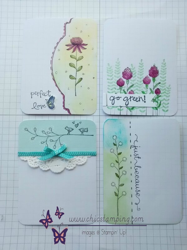 DIY project life card serie Flower Fields total