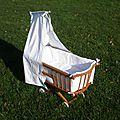 ancien Berceau landau lit à roulettes en bois pour poupée VENDU: tous nos modèles en stock sur http://www.alittlemarket.com/boutique/le_torchon_en_cavale-1127475.html