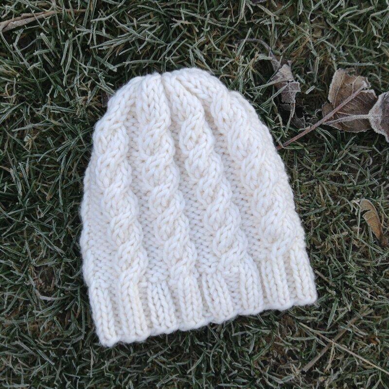 bonnet torsadé