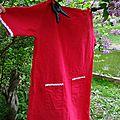 La robe du petit chaperon rouge printanier