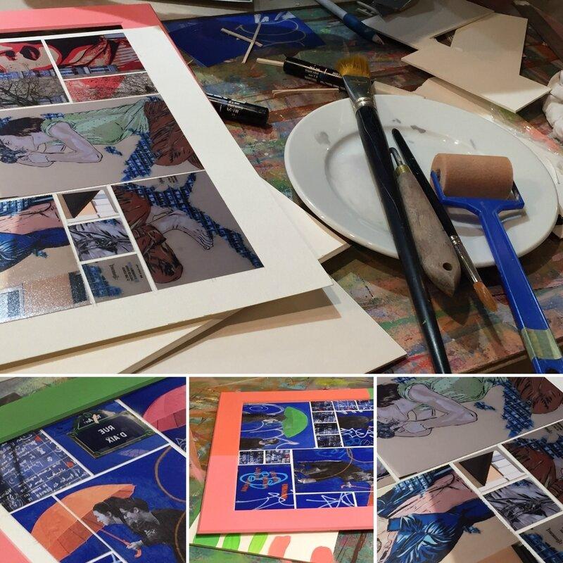 blog 17-27b- cours et stages-enseignement-formation-Encadrement_Mosaïques de photos_Patines-atelier Cadrat Paris