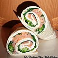 Wraps chvre & saumon