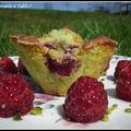 muffins à la pistache aux frambosies