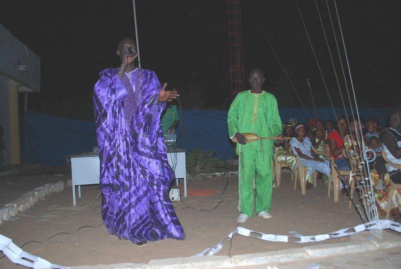 Concert Amadou Mbaye (Guitare), Alassane Farba (Chant) et Samba Hamady BA (Hodu), à Kanel