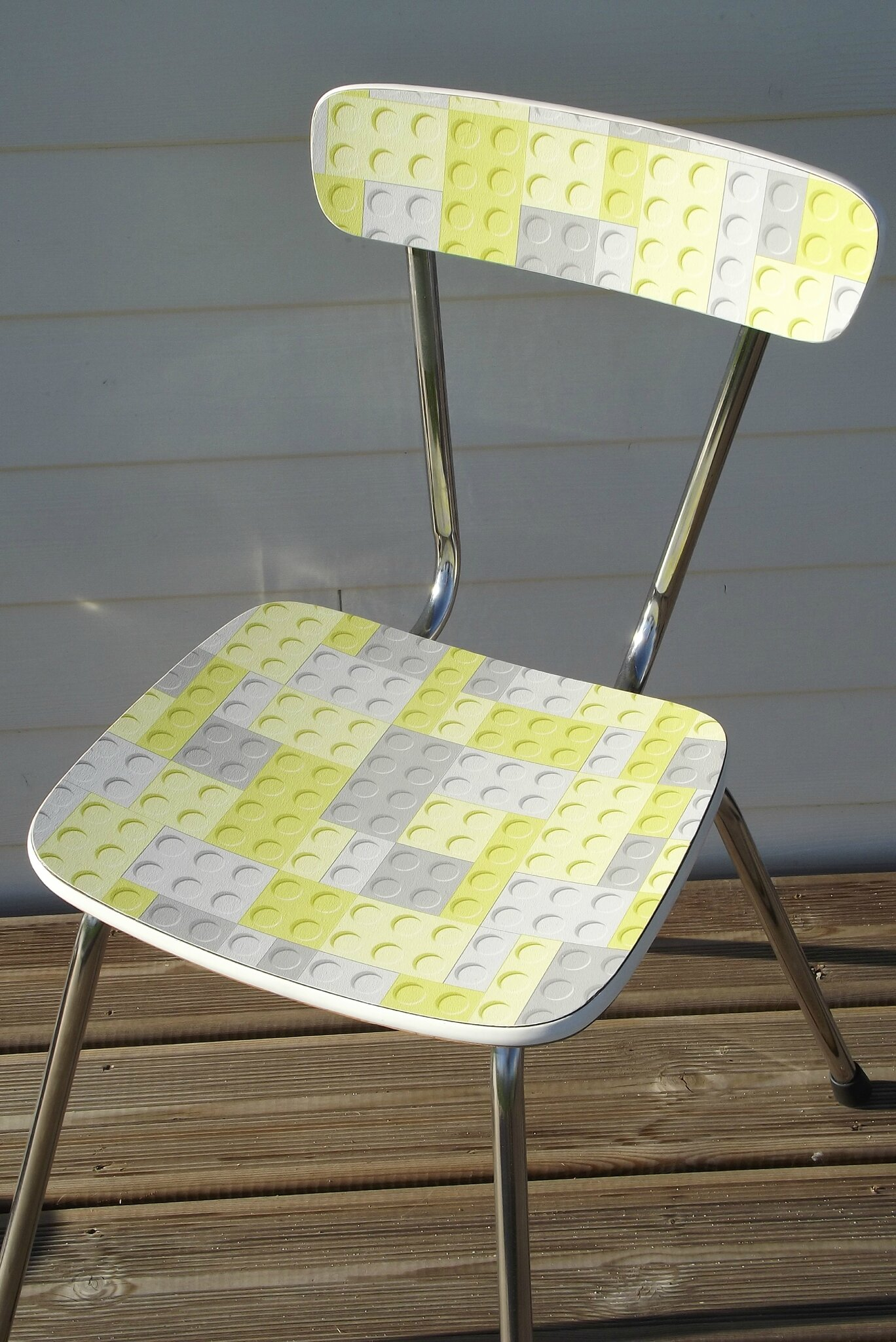 Chaise formica relook e l go l 39 atelier d 39 opaline - Relooker chaise formica ...
