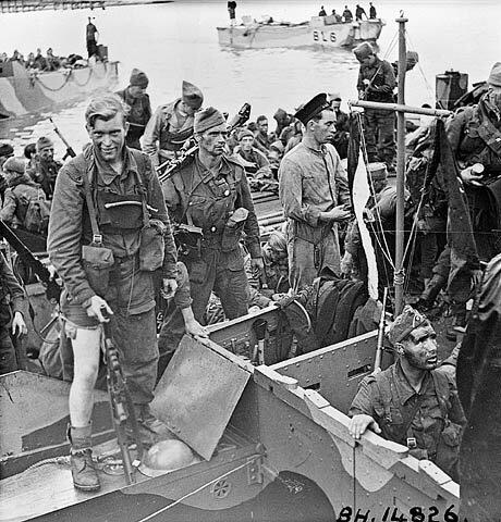 soldats revenant du débarquement de dieppe jubilee