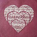 Coeur au petit point n°2 de chez rovaris