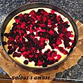 Cheesebrownie aux fruits rouges