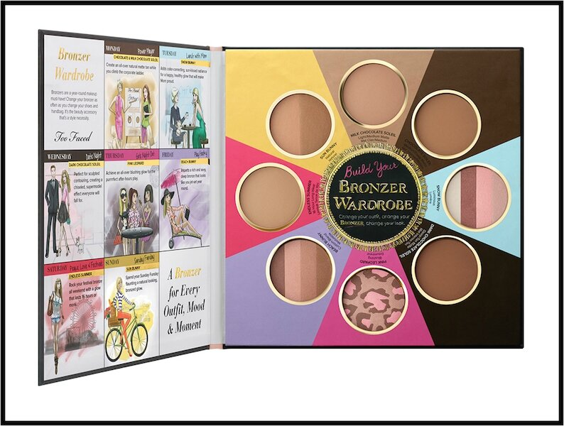 too faced the little black book of bronzers 3