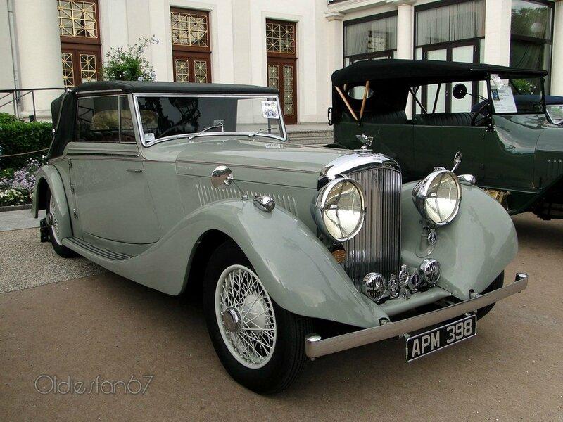 bentley derby 4,5 litre cabriolet vanden plas 1937 a