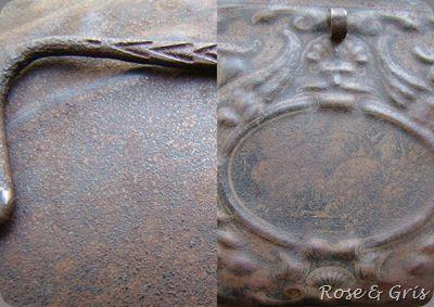 détails de la boite en fer pf