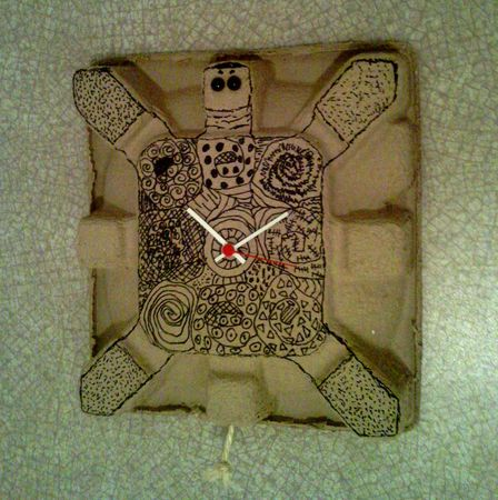 Tortue horloge