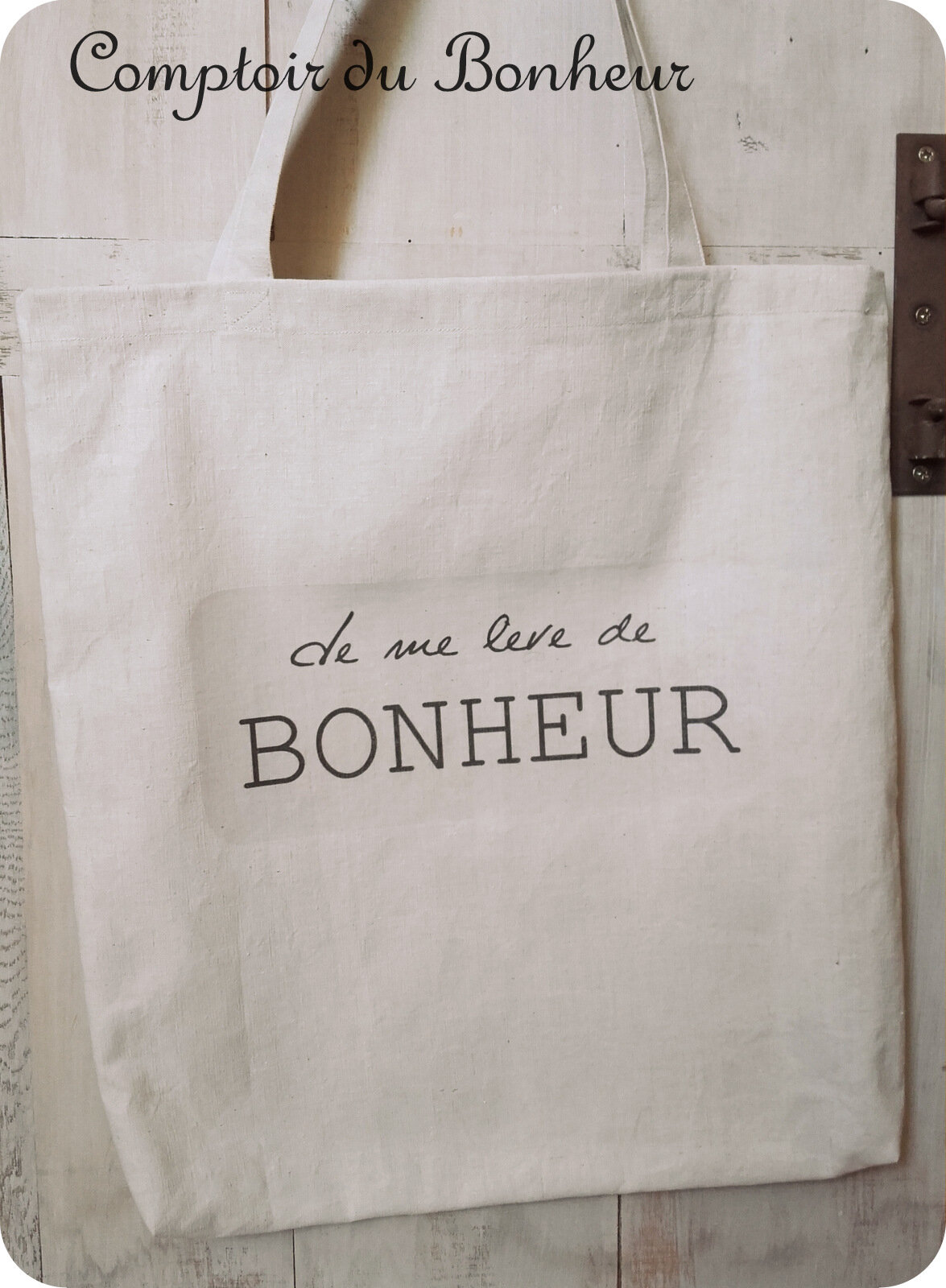 tote bags en lin ancien comptoir du bonheur la boutique. Black Bedroom Furniture Sets. Home Design Ideas