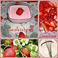 Panna cotta à la fraise + défi arc- en - ciel pour la couleur rouge