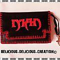 Original porte monnaie !! man !! en simili cuir noir et rouge taille:12cm x 8cm belicious-delicious-creation