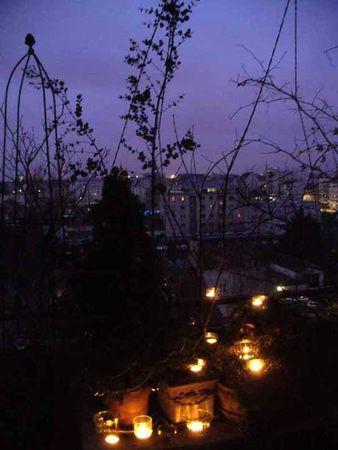 bougies balcon