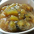 Confiture banane kiwi rhum