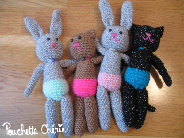 amigurumi chat lapin ours 01