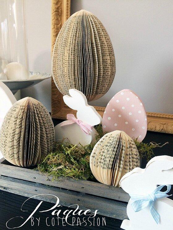 Easter Paper Eggs2 Côté Passion