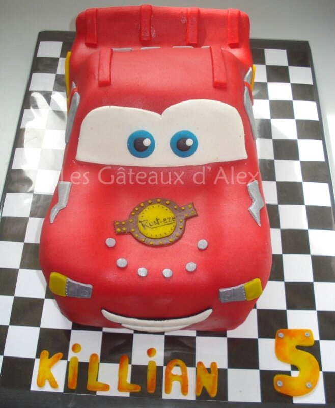 Gâteau Cars Flash McQuenn #3