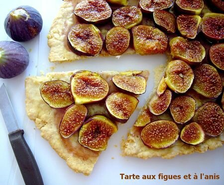 Tarte figue anis