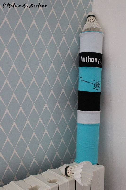 housse de boite de volants de badminton Anthony