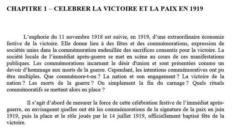 Célèbrer la Victoire en 1919