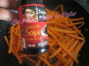 Poêlée de carottes au pamplemousse et crevettes12