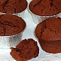 Muffins moelleux au yaourt et au chocolat noir (blancs d'oeufs)