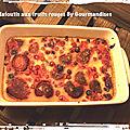 Clafoutis aux fruits rouges vegan et sans gluten ( 200 cal/ par personne)
